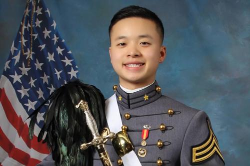 Peter Zhu, học viên 21 tuổi tại học viện quân sự West Point, qua đời sau tai nạn trượt tuyết nghiêm trọng. Ảnh: AP.