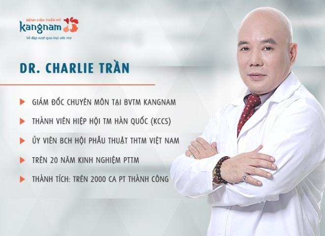 Bác sĩ Charlie Trần - cố vấn chuyên môn Giải cứu mũi hỏng, chuyên mục thẩm mỹ do Bệnh viện Thẩm mỹ Kangnam tổ chức.