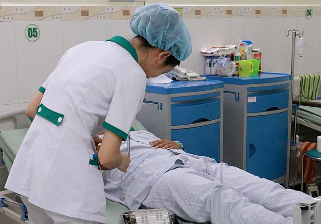 Bệnh nhân hồi phục tốt nhờ cấp cứu kịp thời. Ảnh: Kiều Oanh.