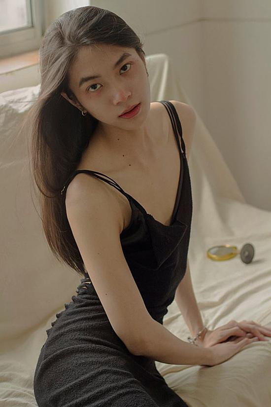 Vóc dáng gợi cảm khi chụp hình mẫu nữ của Hải Đăng. Ảnh: Nhân vật cung cấp