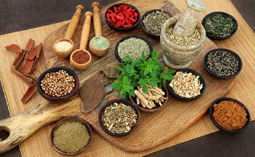 Gia vị là phần quan trọng trong chế độ dinh dưỡng theo triết lý Ayurvedacủa người Kerala. Ảnh: Soul of Yoga.