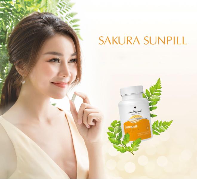 Chiết xuất dương xỉtích hợp trong sản phẩm chống nắng bằng đường uống - viên uống Sakura Sunpill giúpchị em có thêm phương pháp để bảo vệ làn da dưới tác động của ánh nắng mặt trời.