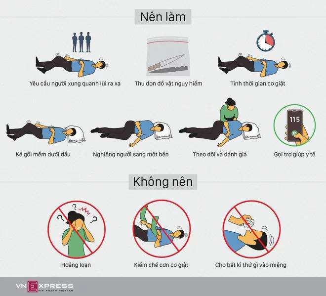 Những điều nên và không nên làm khi sơ cứu người bị co giật