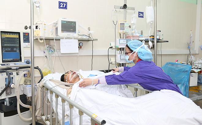 Bệnh nhân được ghép phổi đang có diễn biến thuận lợi. Ảnh: H.N