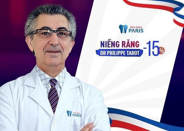 Cơ hội niềng răng công nghệ Dr. Philippe Tarot với ưu đãi đến 15% tại nha khoa Paris.