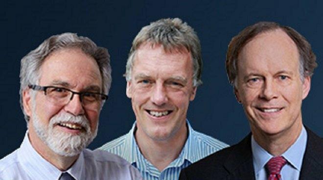 Từ trái, các nhà khoa họcGregg Semenza,Peter Ratcliffe và William Kaelin. Ảnh: Nobel Prize