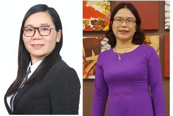 Phó giáo sư, tiến sĩ, bác sĩ Trương Tuyết Mai (áo đen) Viện phó Viện Dinh dưỡng,  Tiến sĩ, bác sĩ Nguyễn Thị Hồng Diễm, Phó trưởng phòng Kiểm soát bệnh không lây nhiễm.