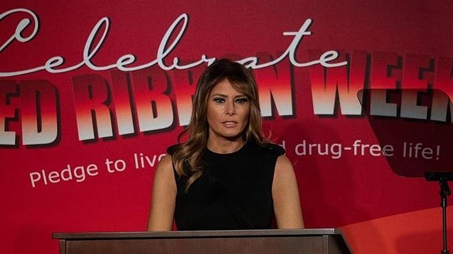 Đệ nhất phu nhân Mỹ phát biểu hôm thứ Hai ngày 7/10. Ảnh: AFP