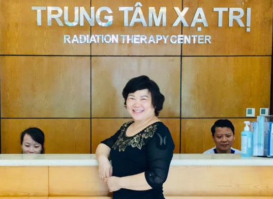 Bà Huỳnh Diệp  điều trị xạ trị ung thư tại Bệnh viện Vinmec.