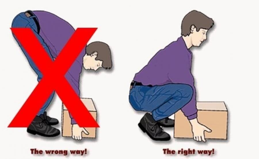 Kết quả hình ảnh cho thói quen khom người gây đau lưng
