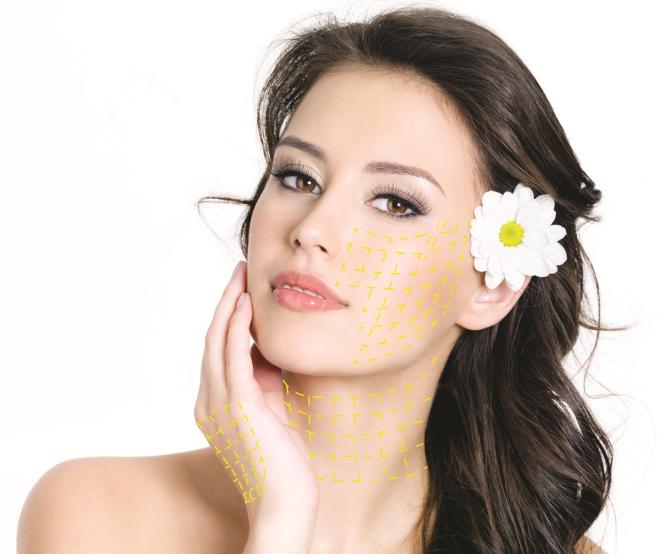 Chỉ vàng nano có khả năng căng da, nâng cơ, trẻ hóa gương mặt.