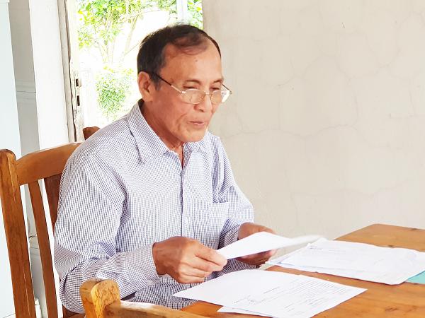 Ông Đoàn Văn Bàn phát hiện bệnh ung thư dạ dày từ tháng 4/2016.