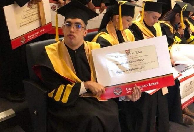 Collazoas nhận bằng Thạc sĩ chuyên ngành dịch tễ học (Ảnh: Nhân vật cung cấp)