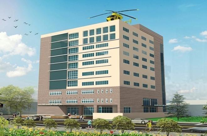 Phối cảnh Khu chẩn đoán kỹ thuật cao, Bệnh viện Nhân dân 115.