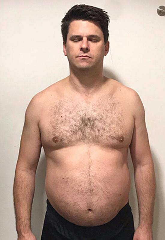 Matt Ellengold trước khi giảm cân. Ảnh: Up Fitness.