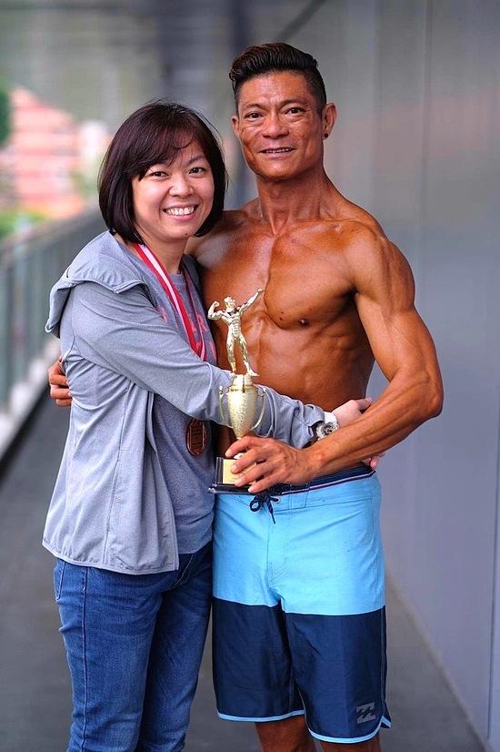 Kellvin Lim và vợ. Ảnh: Asia One