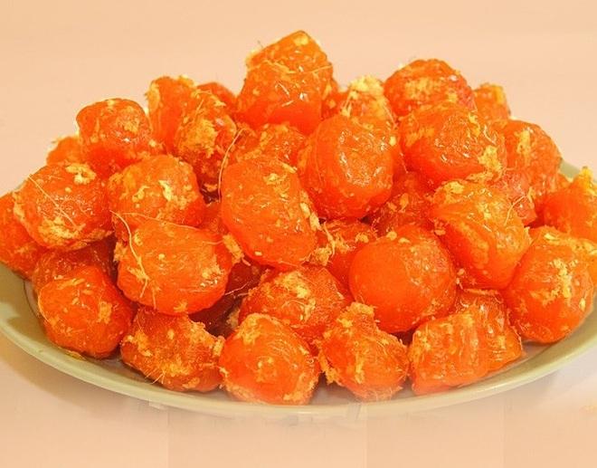 Ô mai mơ chua ngọt được nhiều người yêu thích, là món ănhiệu quả trong chống các dạng ký sinh, chống loét và cải thiện hệ thống tiêu hóa, tim mạch. Ảnh: