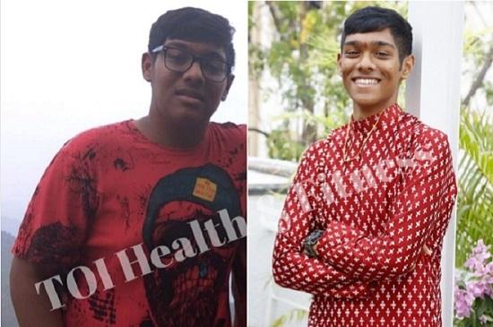 Bivhav giảm từ 106,5 kg còn 60,5 kg sau 11 tháng. Ảnh: TOI Health & Fitness