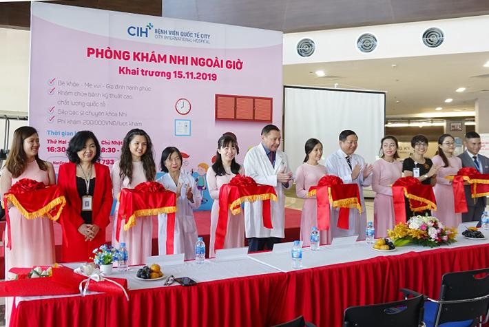 Phòng khám Nhi ngoài giờ Bệnh viện Quốc tế City chính thức hoạt động từ 15/11/2019.