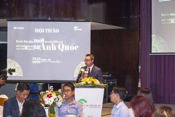 Lễ chuyển giao công nghệ MD:Ceuticals từ Anhcho công ty Oscar Medical.
