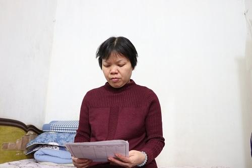 cô giáo Nguyễn Thị Hường, giáo viên Văn, Trường THCS Bình Phú, Thạch Thất, Hà Nội
