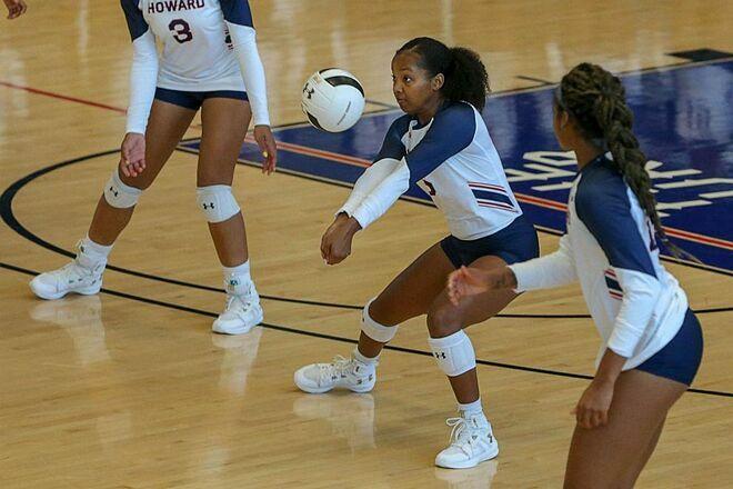 Jurnee Farrelllà một vận động viên bóng chuyền tại Đại học Howard. Ảnh:Howard University