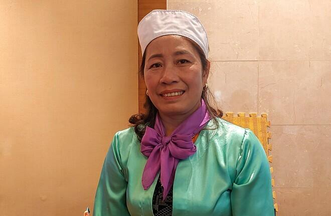 Chị Nguyễn Thị Oanh là một trong 5 người nhận danh hiệu Hiệp sĩ công lý 2019. Chị từng chịu đựng nhiều năm bị bạo hành. Ảnh: Thúy Quỳnh