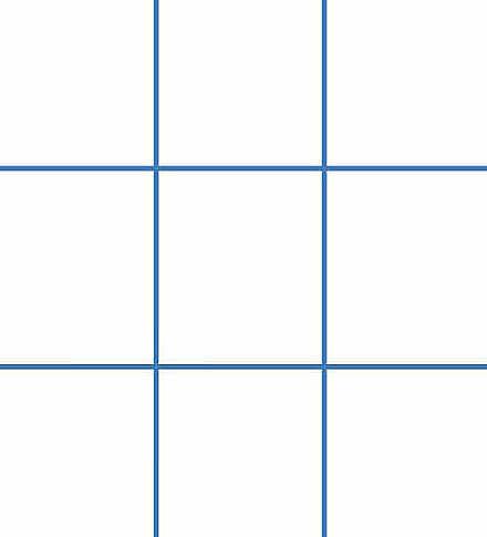Hình ảnh bàn cờ X-O bạn có thể tưởng tượng để vẽ theo. Ảnh: Sample Tamplates