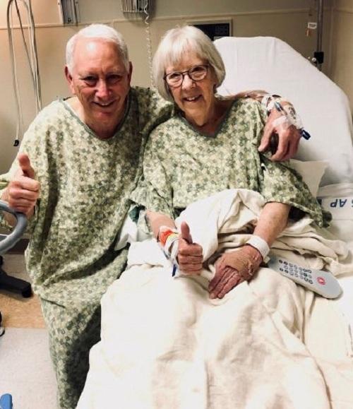 Ông Mike và bà Peggy. Ảnh:St. David's North Austin Medical Center