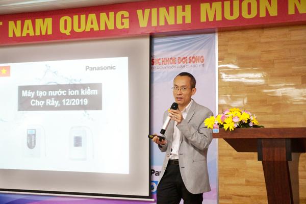 Ông Mai Thế Trung chia sẻ về nước điện giải ion kiềm – nước uống chức năng đến từ Nhật Bản