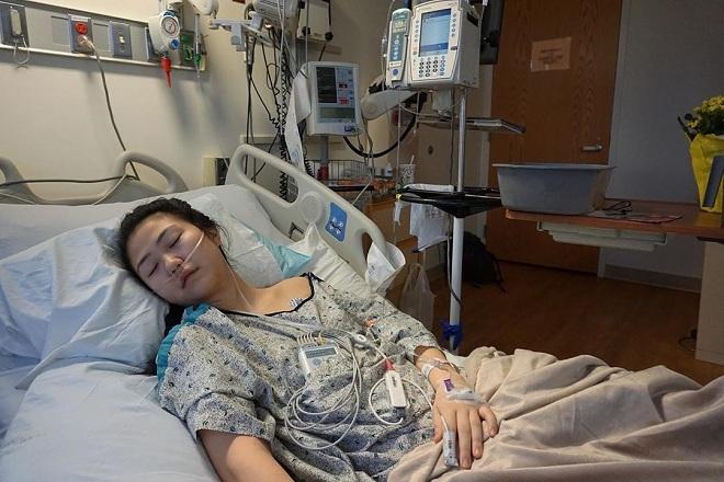 Claire Chung tại bệnh viện. Ảnh: Claire Chung