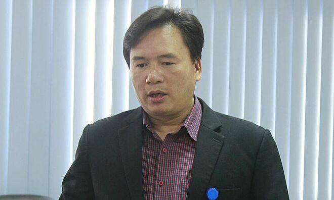 Ông Nguyễn Văn Thường thông tin sự việc, chiều 14/1. Ảnh: L.N