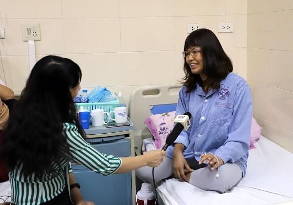 Tôi trong một cuộc phỏng vấn với Đài truyền hình Việt Nam.