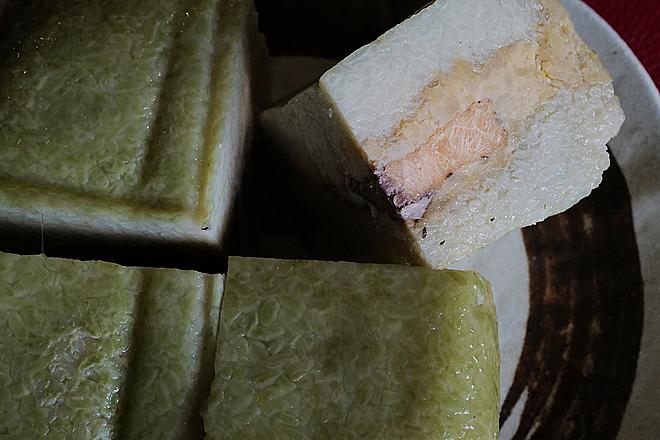 Bánh chưng nhân cá hồi thay thế nhân thịt đảm bảo dinh dưỡng, chống ngấy. Ảnh: Ngọc Thành