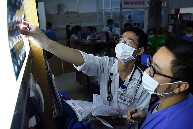 Khoa Cấp cứu A9, Bệnh viện Bạch Mai. Ảnh: Giang Huy.
