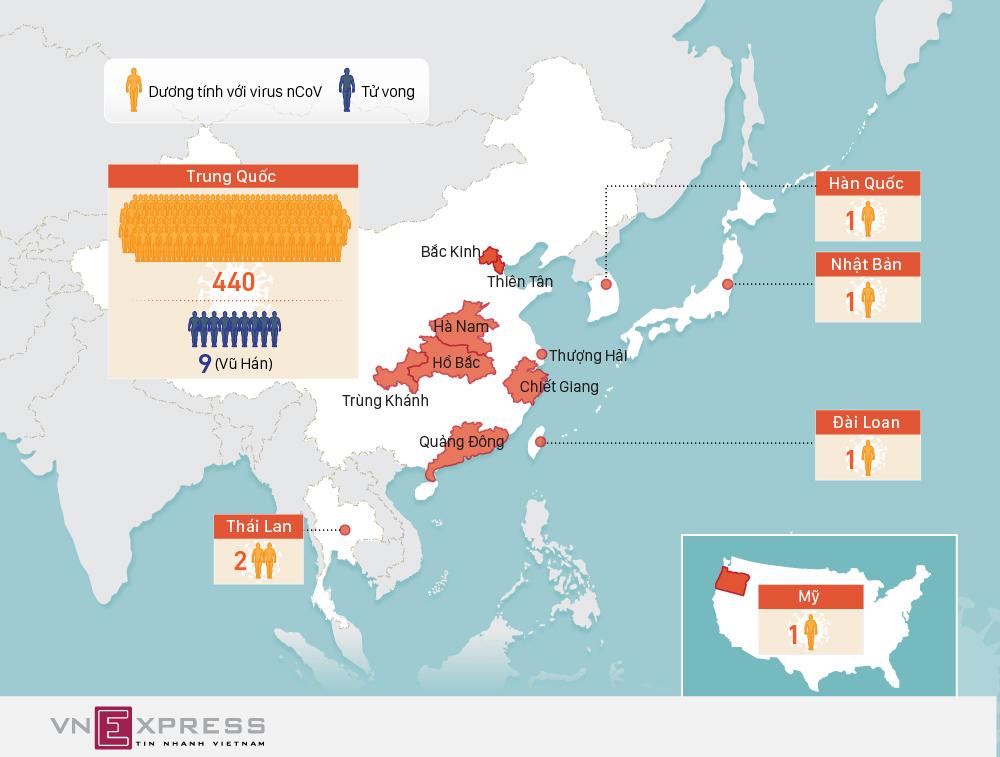 Viêm phổi Vũ Hán lan rộng, 9 người chết
