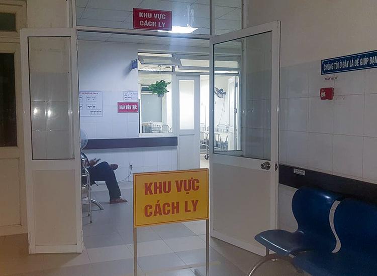 Khu vực cách ly tại Bệnh viện Đà Nẵng. Ảnh: B.V.
