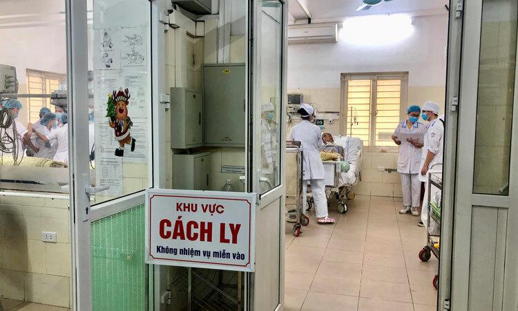 Khu vực cách ly bệnh nhân tại Trung tâm nhiệt đới, Bệnh viện Bạch Mai, Hà Nội. Ảnh: Bệnh viện cung cấp.