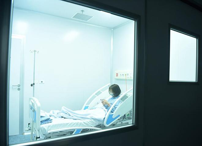 Bệnh nhân viêm phổi Vũ Hán điều trị cách ly tại Bệnh viện Bệnh Nhiệt đới Trung ương cơ sở 2 ở Đông Anh, Hà Nội. Ảnh: Giang Huy.
