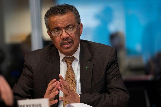 Giám đốc WHOTedros Adhanom Ghebreyesus trong buổi họp khẩn tại thành phố Geneva, Thụy Sĩ vào ngày 30/1. Ảnh: Reuters