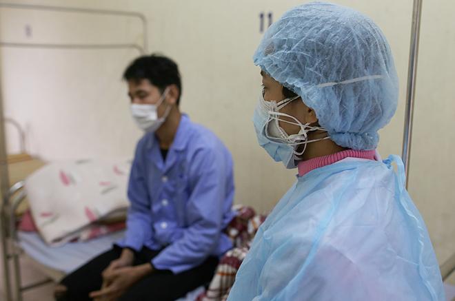 Khu cách ly bệnh nhân nhiễm nCoV ở Trung tâm y tế huyện Bình Xuyên, Vĩnh Phúc. Ảnh: Tất Định.