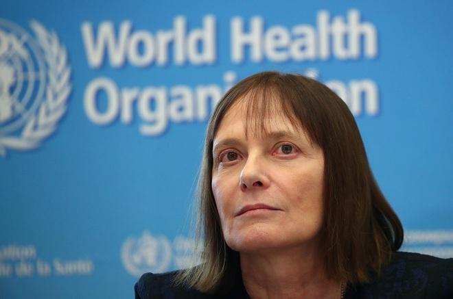 Tiến sĩMarie-Paule Kieny trong cuộc họp báo của WHO vào ngày 12/2. Ảnh: Reuters