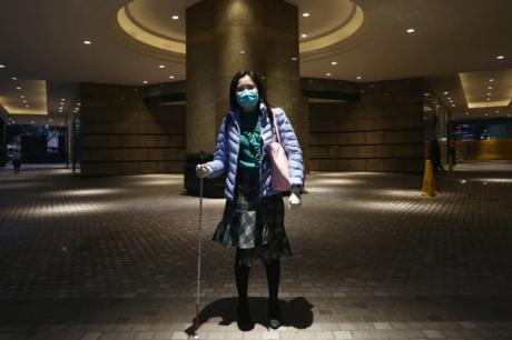 Jess Shek là một người khiếm thị sống tại Hong Kong. Ảnh: SCMP