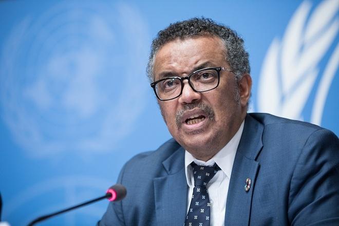Tổng giám đốc WHO Tedros Adhanom Ghebreyesus phát biểu tại cuộc họp ngày 20/2 ở Geneva, Thụy Sĩ. Ảnh: WHO
