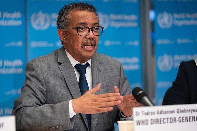 Tổng giám đốc WHOTedros Adhanom Ghebreyesus phát biểu trong cuộc họp vào ngày 21/2. Ảnh: WHO