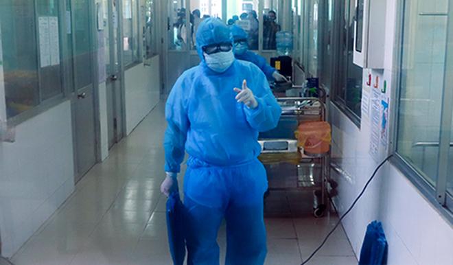 Khu vựccách ly bệnh nhân nghi nhiễm nCoV ở Bệnh viện Phổi Đà Nẵng. Ảnh: Nguyễn Đông.