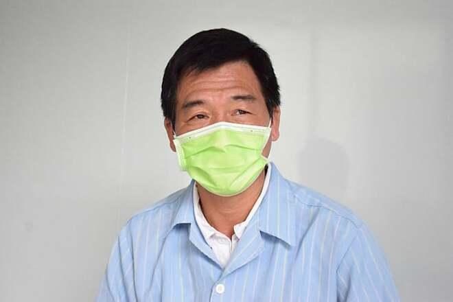 Bệnh nhân Nguyễn Văn Vinh trước khi xuất viện. Ảnh: Nguyễn Chi.