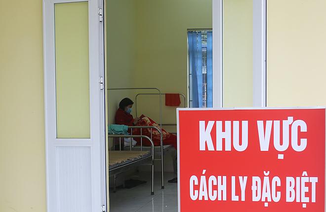Khu cách ly người nhiễm nCoV tại Trung tâm y tế huyện Tam Đảo, Vĩnh Phúc. Ảnh: Tất Định