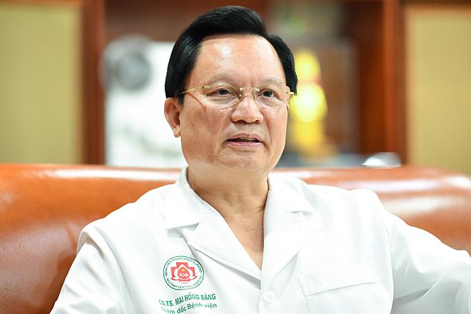 Giáo sư Mai Hồng Bàng, Giám đốc Bệnh viện Trung ương Quân đội 108. Ảnh: L.N