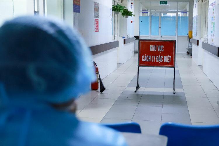 Khu vực cách ly, điều trị ba ca dương tính tại Bệnh viện Đà Nẵng. Ảnh: Nguyễn Đông.